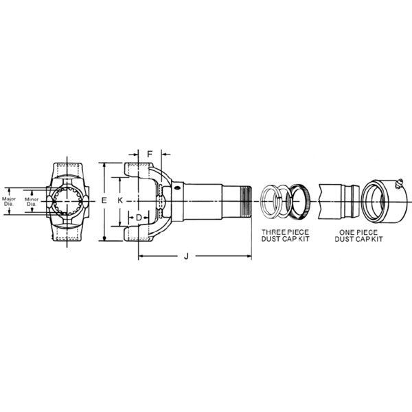 Spicer - 2-3-13221X - Drive Shaft Transmission Slip Yoke