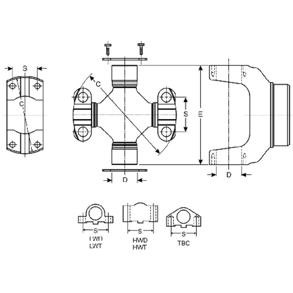 Spicer - 5-450X - Universal Joint